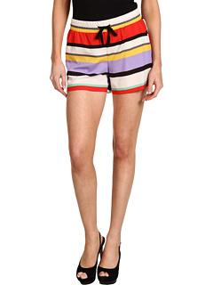 SALE! $21.99 - Save $47 on kensie Striped Shorts (Tomato Combo) Apparel - 68.13% OFF $69.00