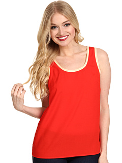 SALE! $14.99 - Save $44 on kensie Crepe Sleeveless Top (Tomato Combo) Apparel - 74.59% OFF $59.00