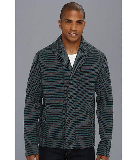 Prana - Norton Cardigan (Blue) Men's Sweater