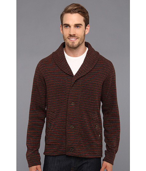 Prana - Norton Cardigan (Brown) Men's Sweater