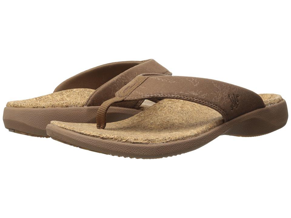 SOLE - Cork Flips (Bark) Men's Toe Open Shoes