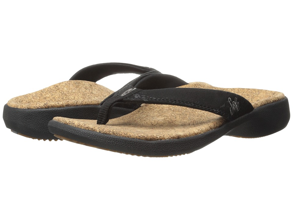 SOLE - Cork Flips (Coal) Women's Toe Open Shoes