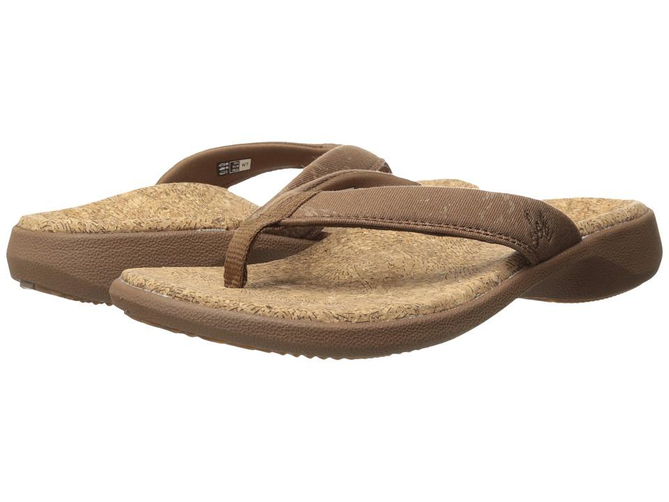 SOLE - Cork Flips (Bark) Women's Toe Open Shoes