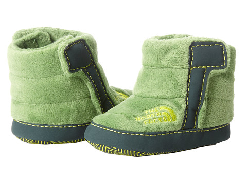 The North Face Kids - NSE Fleece Bootie (Infant/Toddler) (Flashlight Green/Dark Sage Green) Boys Shoes
