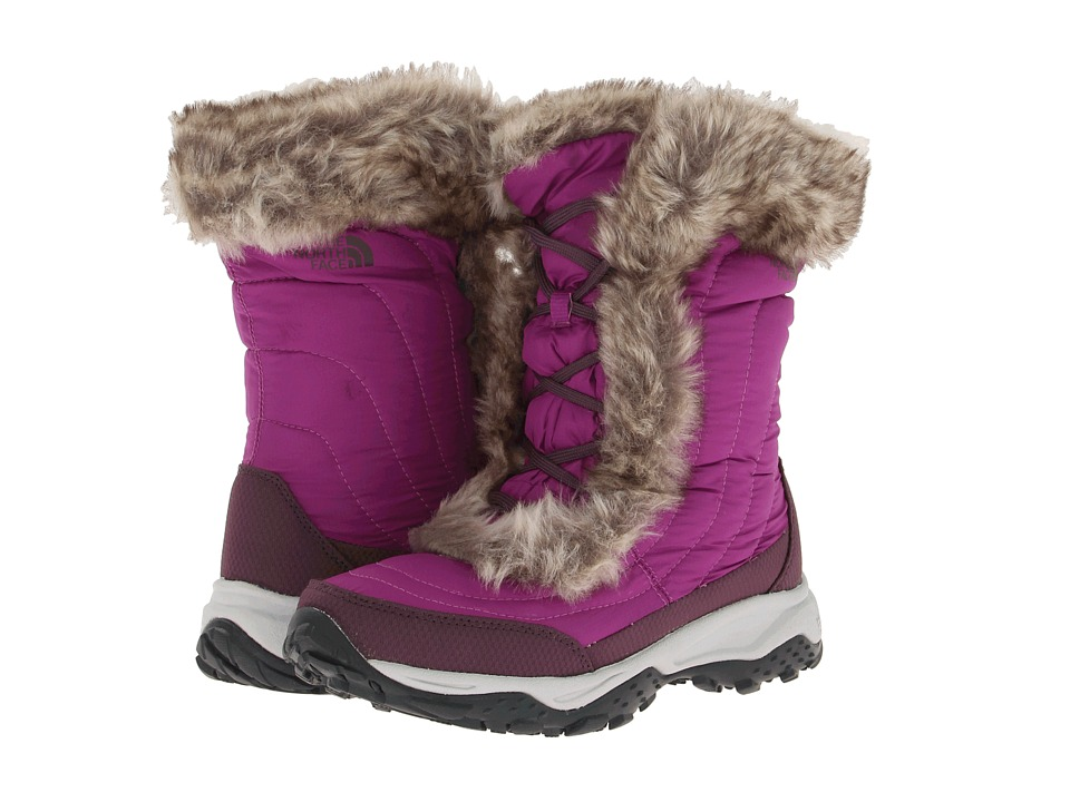 The North Face Kids - Nuptse Faux Fur II (Toddler/Little Kid/Big Kid) (Magic Magenta/Baroque Purple) Girls Shoes