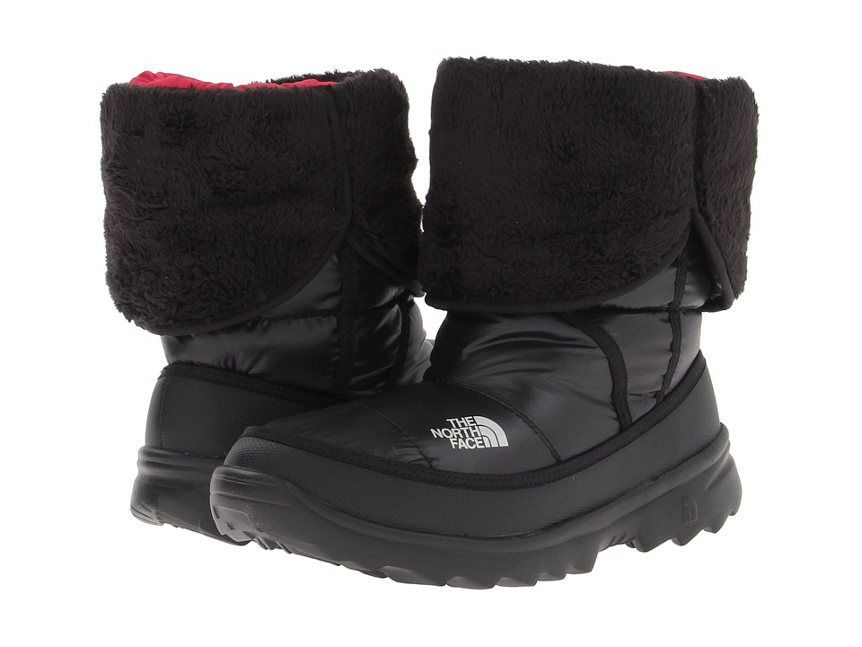 The North Face Kids Amore (Little Kid/Big Kid) (Shiny TNF Black/TNF Black) Girls Shoes