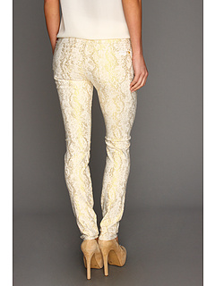 SALE! $69.99 - Save $128 on 7 For All Mankind The Skinny in White w Gold Jacquard Snake (White Gold Jacquard Snake) Apparel - 64.65% OFF $198.00