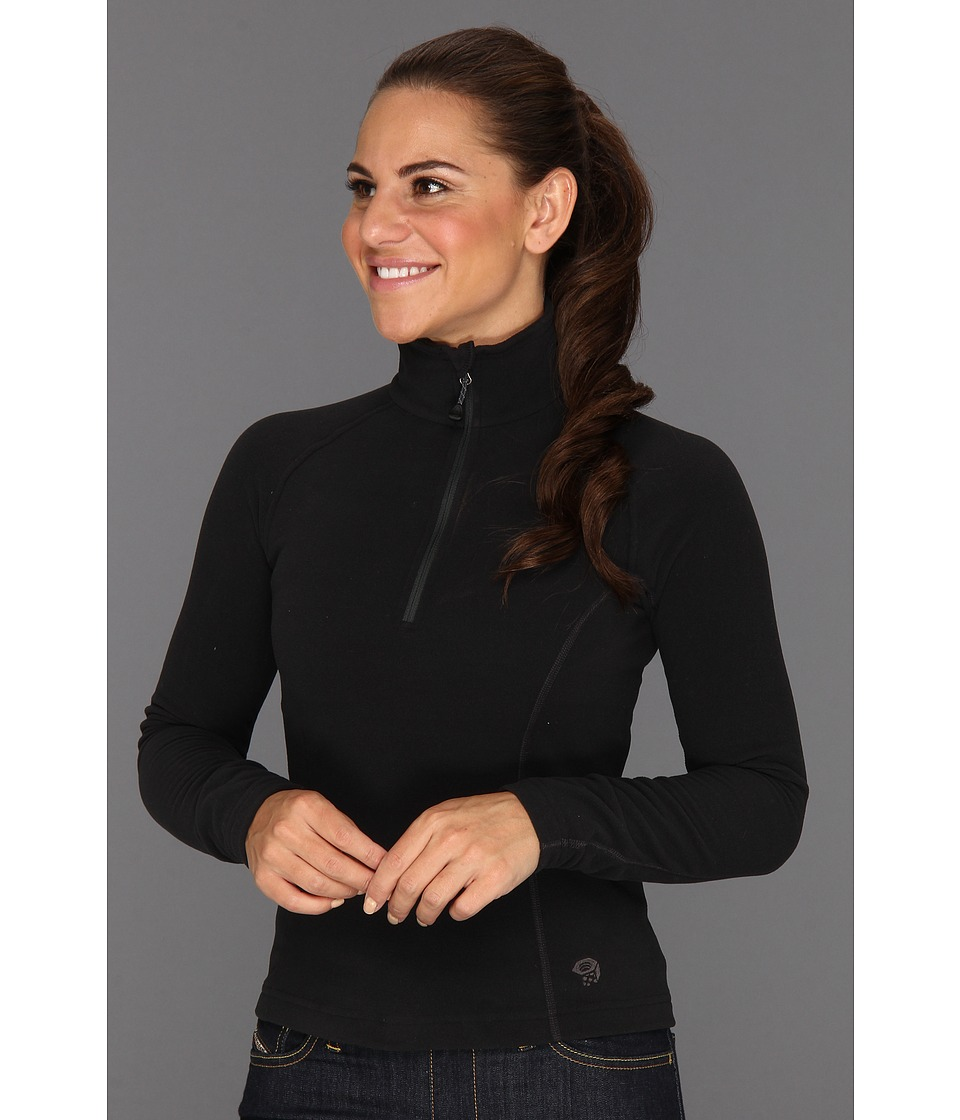 Mountain Hardwear - MicroChill Zip T (Black) Women's Long Sleeve Pullover