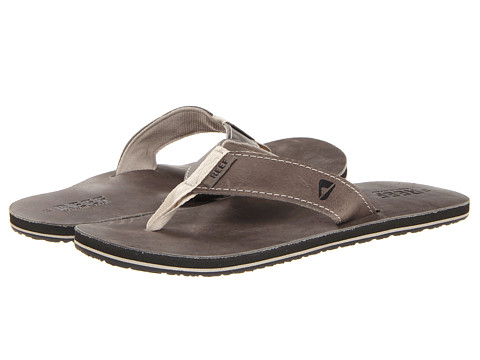 Reef - Reef Leather Smoothy (Cool Grey) Men's Sandals