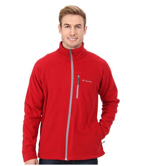 Columbia - Fast Trek II Full-Zip Fleece Jacket (Rocket/Grill/Light Grey) Men