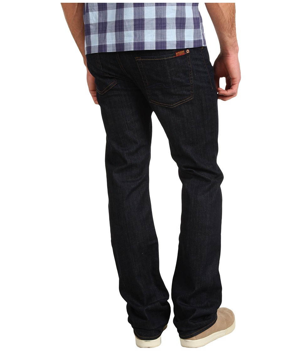7 For All Mankind - Standard Straight Leg Long 36 Inseam in Dark and Clean (Dark and Clean) Men