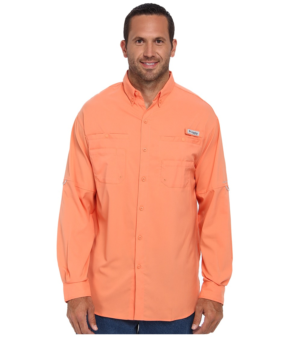 Columbia - Tamiami II L/S - Tall (Bright Peach) Men's Long Sleeve Button Up