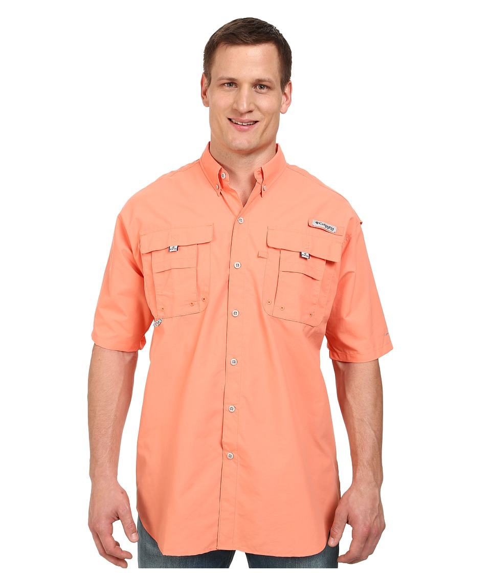 Columbia - Bahama II Short Sleeve Shirt - Tall (Bright Peach) Men's Short Sleeve Button Up