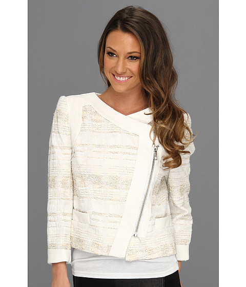 Badgley Mischka - Mark James Spring Biker (White Silver) Women's Jacket