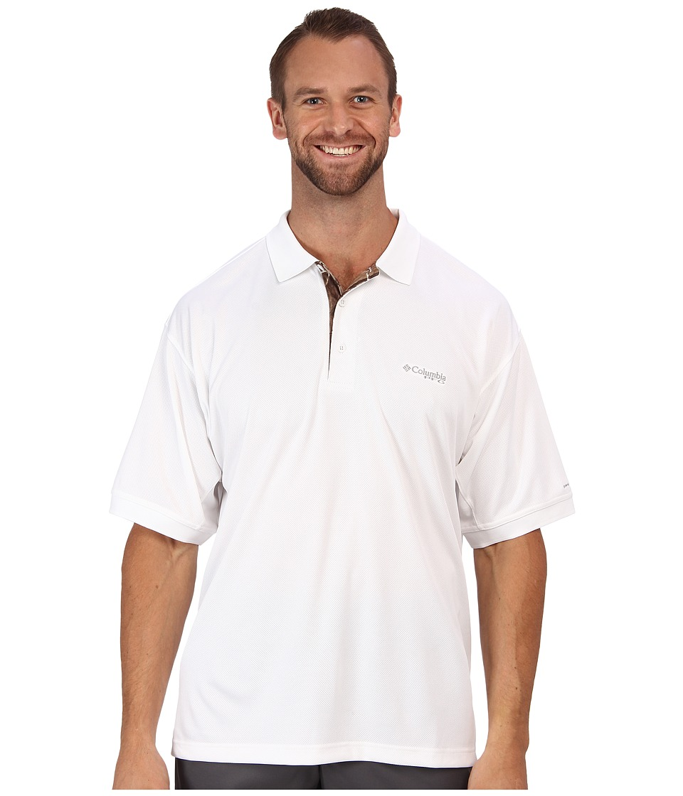 Columbia - Perfect Cast Polo Shirt - Extended (White/Realtree AP) Men's Short Sleeve Pullover