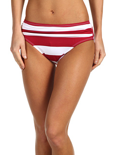 SALE! $26.99 - Save $36 on Tommy Bahama Sangria Rugby Stripe High Waist Sash Pant (Sangria Red) Apparel - 57.16% OFF $63.00