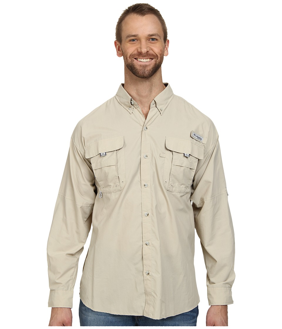 Columbia - Bahama II Long Sleeve Shirt - Extended (Fossil 2) Men's Long Sleeve Button Up