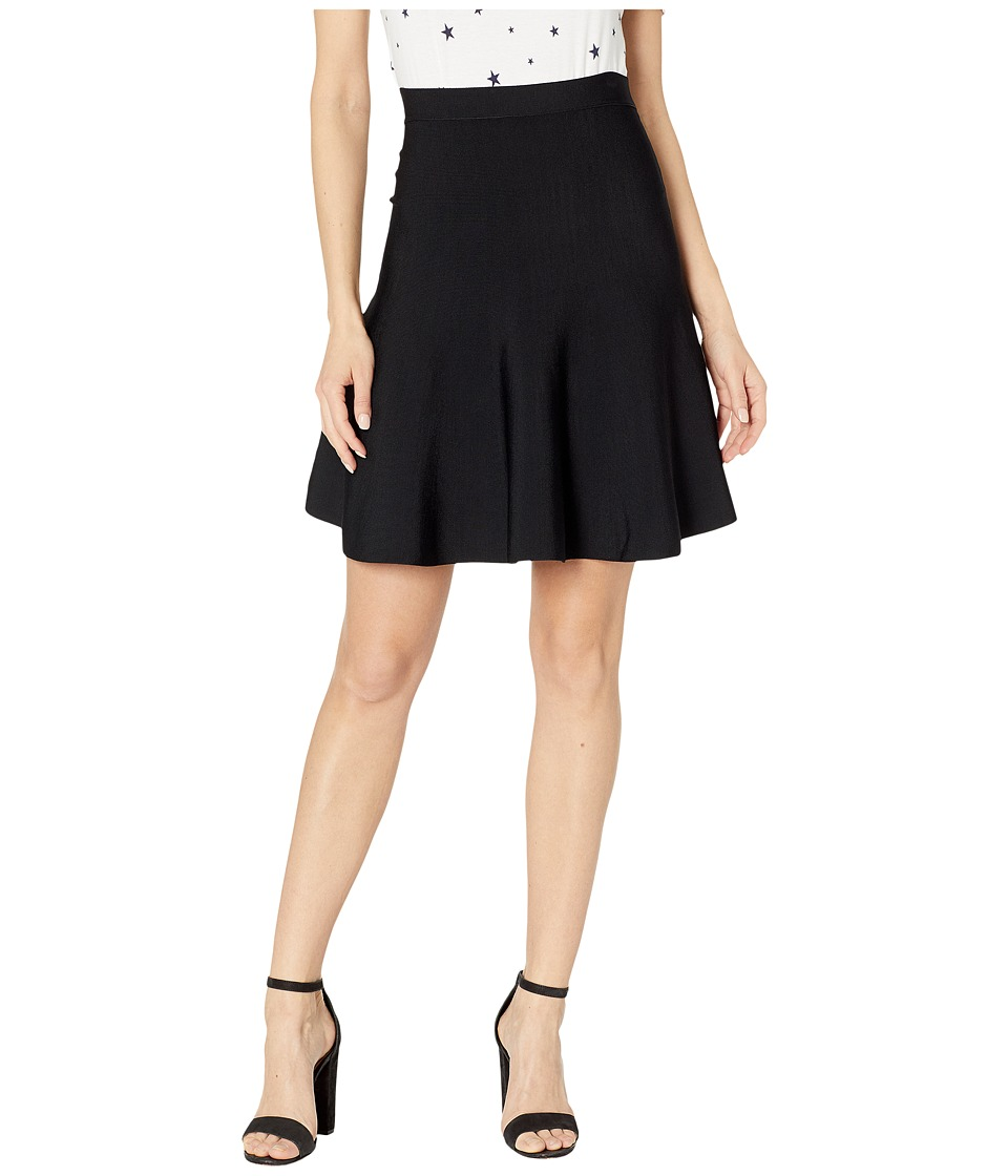 BCBGMAXAZRIA - Ingrid A-Line Skirt (Black) Women's Skirt