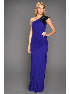 SALE! $346.99 - Save $348 on Badgley Mischka One Shoulder Deco Sleeve (Ultra Violet) Apparel - 50.07% OFF $695.00
