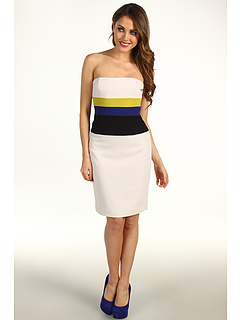 SALE! $134.99 - Save $133 on BCBGMAXAZRIA Reesie Strapless Colorblock Dress (Canvas Combo) Apparel - 49.63% OFF $268.00