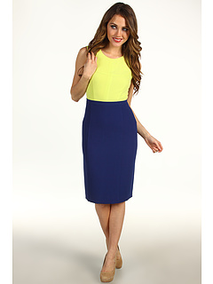 SALE! $139.99 - Save $128 on BCBGMAXAZRIA Blaire Colorblock Sheath Dress (Light Lemongrass) Apparel - 47.76% OFF $268.00