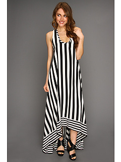 SALE! $274.99 - Save $273 on BCBGMAXAZRIA Gia Stripe Gown (Black Combo) Apparel - 49.82% OFF $548.00