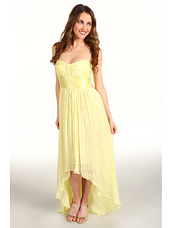 SALE! $159.99 - Save $238 on BCBGMAXAZRIA Alicia Strapless High Low Gown (Pale Lime) Apparel - 59.80% OFF $398.00