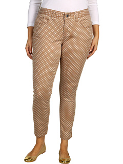 SALE! $24.99 - Save $69 on Jag Jeans Plus Size Plus Size Chloe Skinny Mini Polka Dot Sanded Twill (Nutty Dot) Apparel - 73.41% OFF $94.00