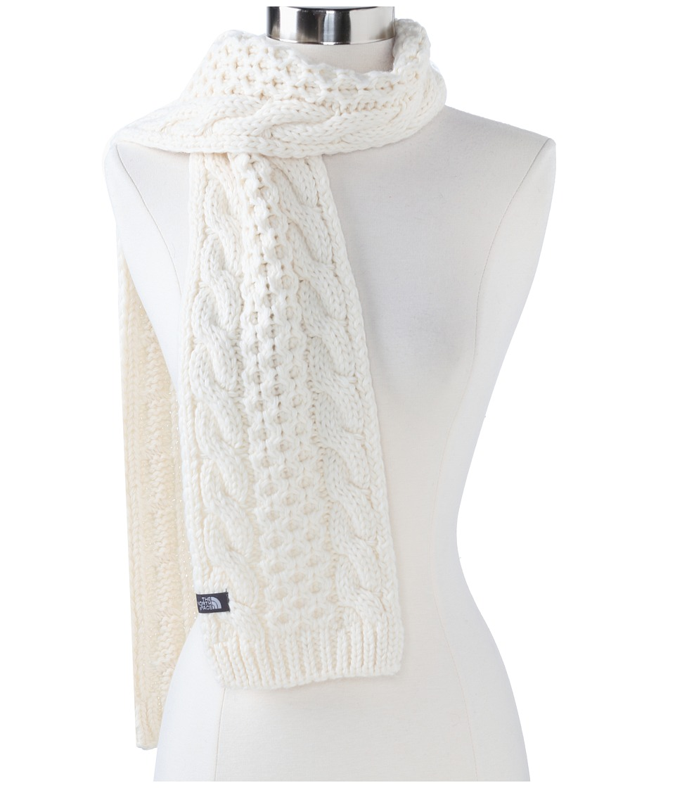 The North Face - Cable Minna Scarf (Vintage White) Scarves