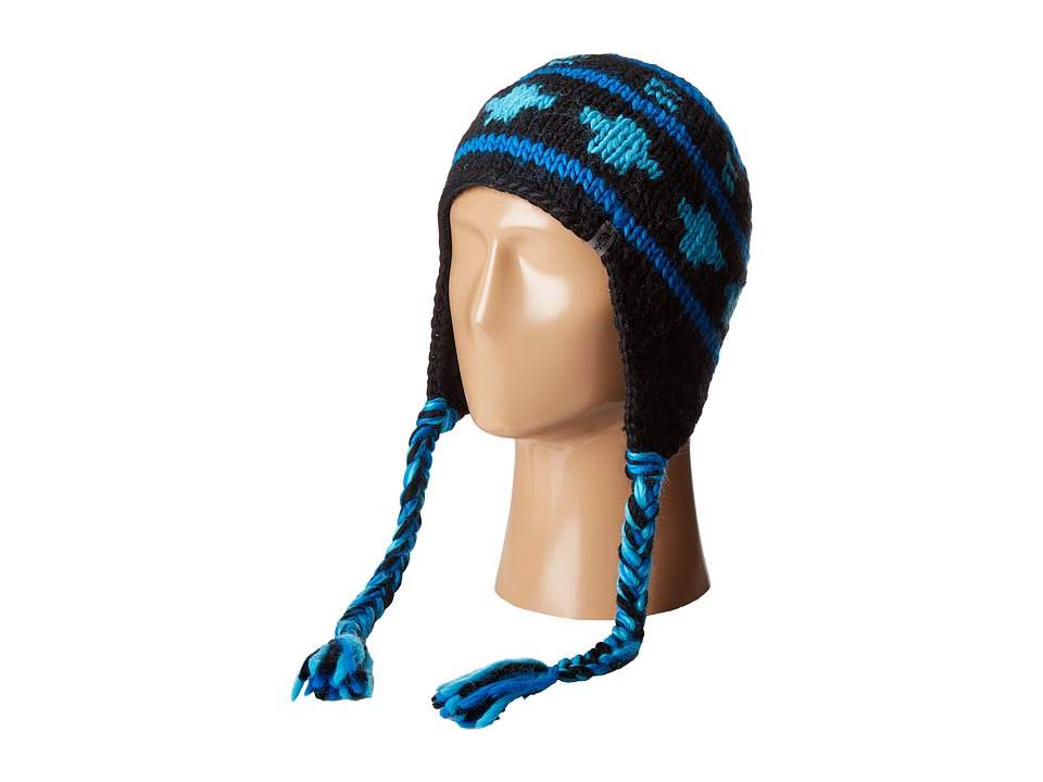 The North Face - Boulder Peruvian Beanie (TNF Black/Nautical Blue/Cosmic Blue) Beanies
