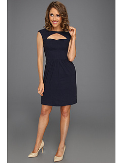 SALE! $96.99 - Save $228 on Rebecca Taylor Cut Out Dress (Navy) Apparel - 70.16% OFF $325.00