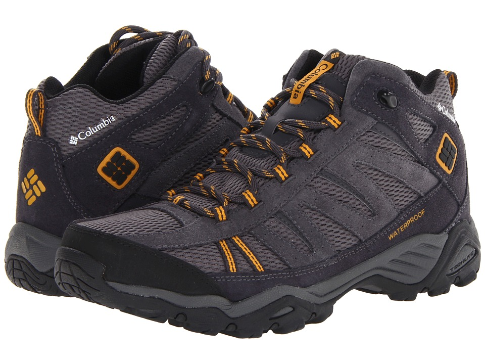 Columbia - North Plains Mid WP (Charcoal/Gallion) Men's Hiking Boots