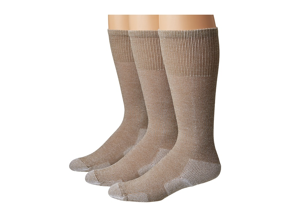 Thorlos - Over Calf Ultra Light 3 Pair Pack (Cornstalk Brown) Crew Cut Socks Shoes
