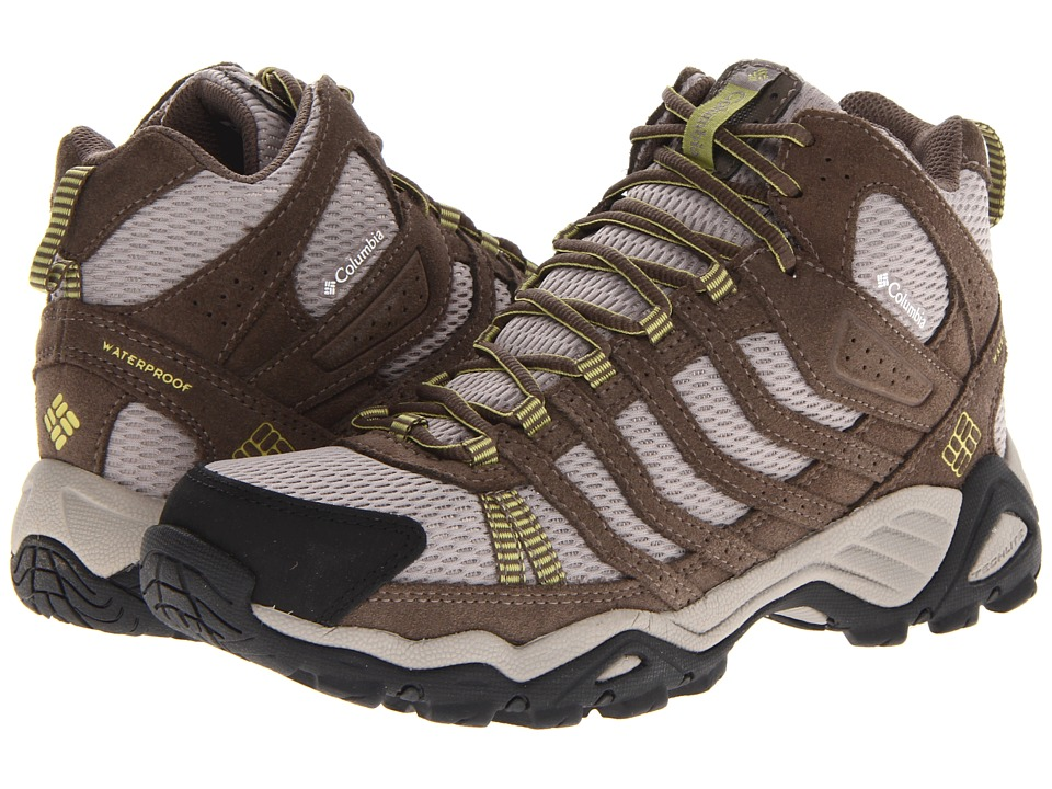 Columbia - Helvatia Mid WP (Tusk/Firefly) Women's Hiking Boots
