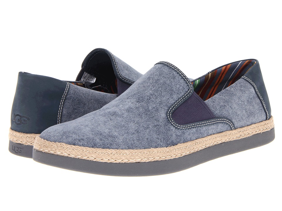 UGG - Wilton (Night Nubuck) Men's Slip on Shoes