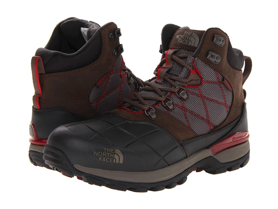 The North Face Snowsquall Mid (Coffee Brown/Biking Red) Men