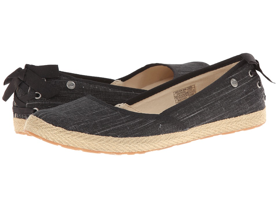 UGG - Indah (Black Canvas) Women's Slip on Shoes