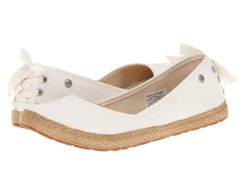 UGG - Indah (White Canvas) Women's Slip on Shoes