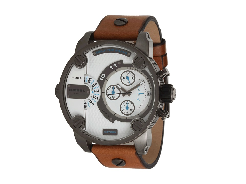 Diesel - Little Daddy (Tan Leather) Chronograph Watches