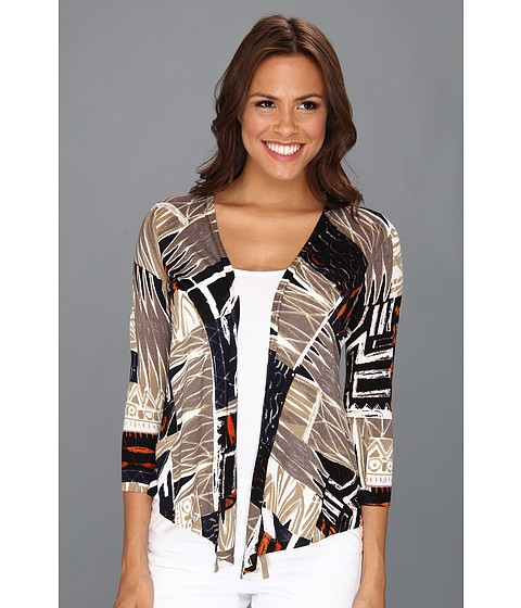 NIC+ZOE - Modern Tribal Times 4-way Cardy (Multi) Women's Sweater