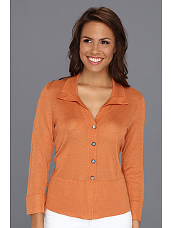 SALE! $39.99 - Save $114 on NIC ZOE Modern Tribal Shimmer Tie Back Cardy (Amber) Apparel - 74.03% OFF $154.00