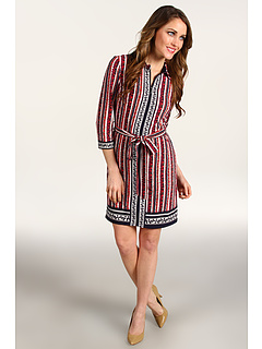 SALE! $142.55 - Save $82 on Laundry by Shelli Segal Mixed Print Shirtdress (Inkblot Multi) Apparel - 36.64% OFF $225.00