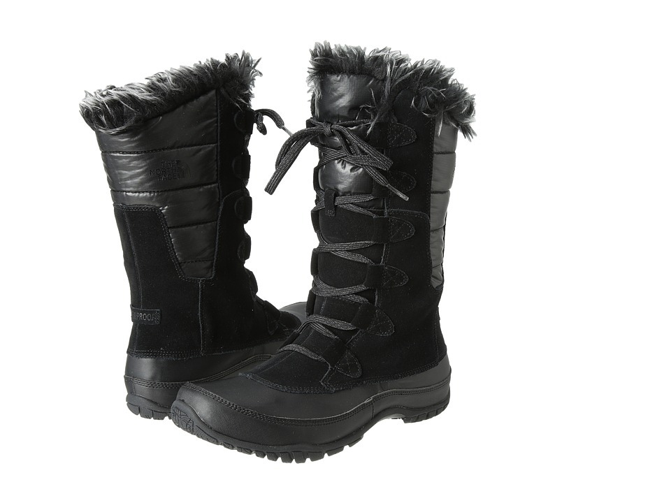The North Face - Nuptse Purna (Shiny TNF Black/TNF Black) Women's Cold Weather Boots