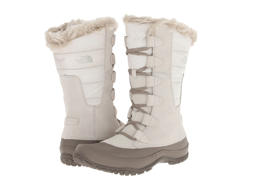 The North Face - Nuptse Purna (Moonlight Ivory/Shiny Moonlight Ivory) Women's Cold Weather Boots