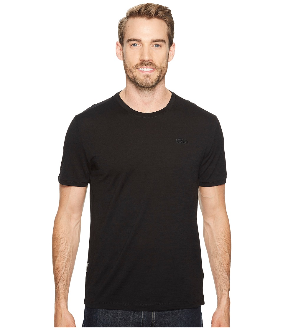 Icebreaker - Tech T Lite Short Sleeve Shirt (Black) Men's Short Sleeve Pullover
