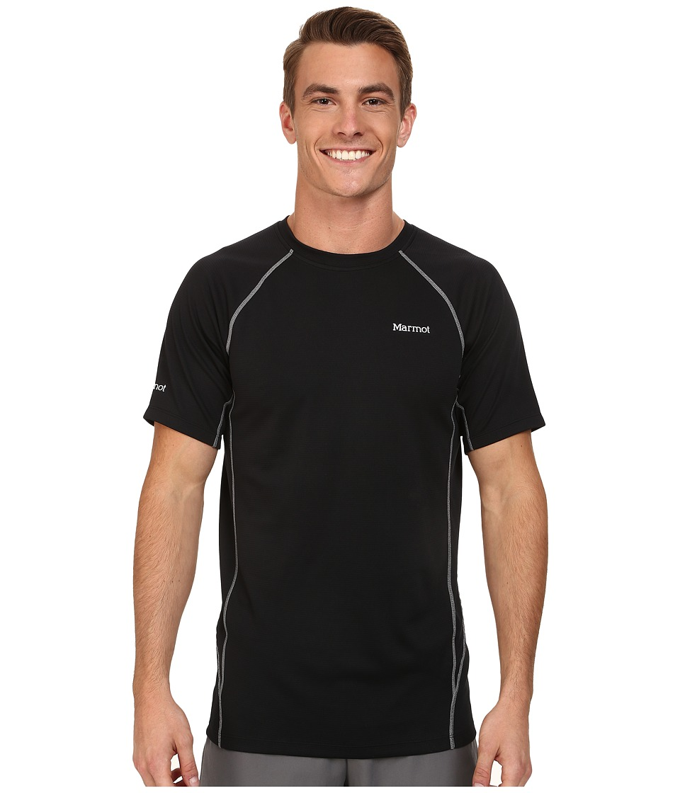 Marmot - ThermalClime Sport SS Crew (Black) Men's Clothing