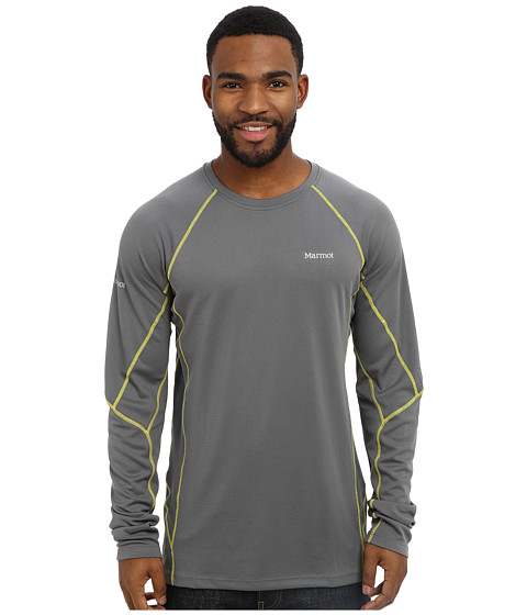 Marmot - ThermalClime Sport LS Crew (Cinder) Men's Long Sleeve Pullover