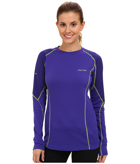 Marmot - ThermalClime Pro L/S Crew (Electric Blue/Midnight Purple) Women