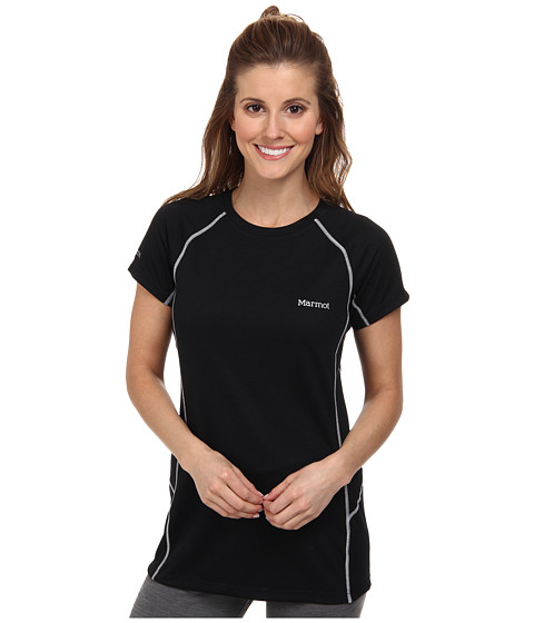 Marmot - ThermalClime Sport S/S Crew (Black) Women's Clothing