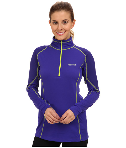 Marmot - ThermalClime Pro L/S 1/2 Zip (Electric Blue/Midnight Purple) Women